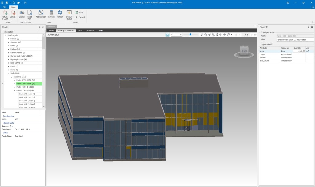 Cubit Pro - Building Estimating Software, BIM 3D from Buildsoft